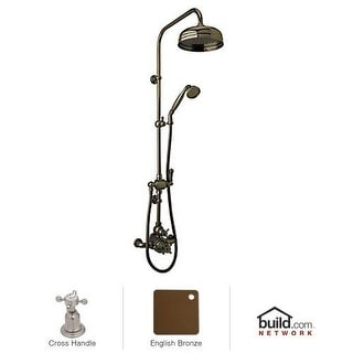 Rohl U.KIT61NX Perrin and Rowe Shower System with Thermostatic Valve Trim, Singl
