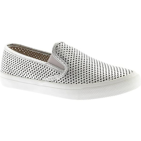 cce1c7f37f62 Sperry Top-Sider Women  x27 s Seaside Perforated Slip-On Sneaker Silver
