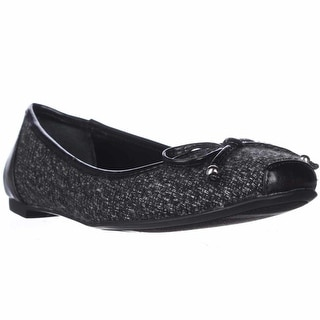 A35 Camroon Bow Tie Ballet Flats - Black Multi