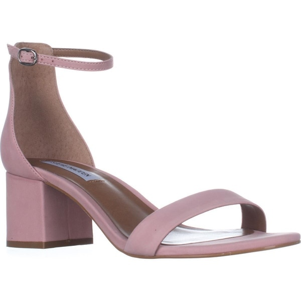 Steve Madden Irenee Heeled Ankle Strap Sandals, Light Pink