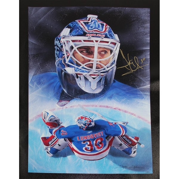 Henrik Lundqvist New York Rangers Giclee 21x28 Canvas