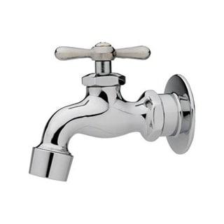 "Homewerks Worldwide 3210-160-CH-B-Z Single Handle Chrome Wall Faucet, 1/2 "", 2.2 GPM"