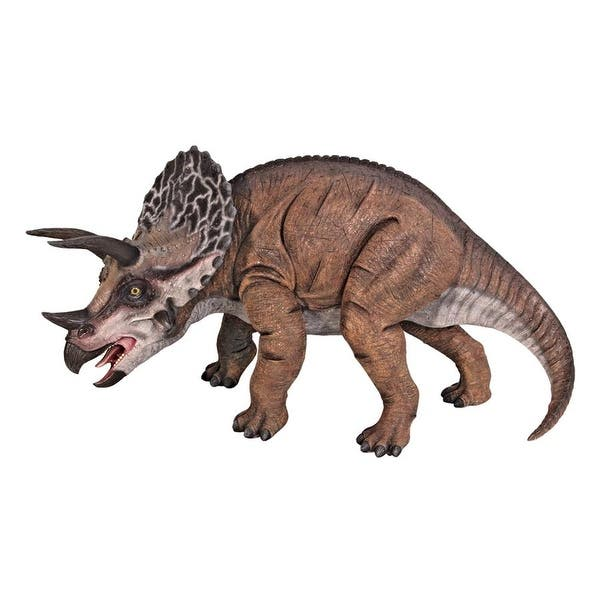 Shop Design Toscano Triceratops Scaled Dinosaur Statue Free Shipping Today Overstock 20758890