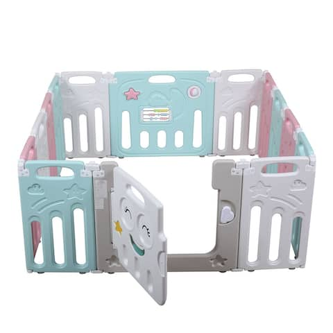 Baby Kids Safety Play Center Yard Home Indoor Outdoor Pen 14 Panel
