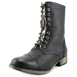 Mia Pascal Women Round Toe Synthetic Black Boot