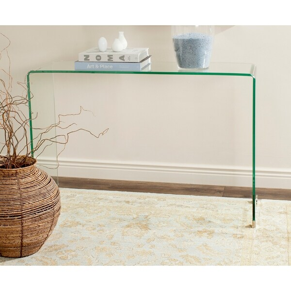 """SAFAVIEH Ambler Clear Console Table - 43.3"""" x 13.8"""" x 29.5"""". Opens flyout."""