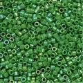 Miyuki Delica Seed Beads 11/0 - Opaque Green AB DB163 7.2 Grams - Thumbnail 0