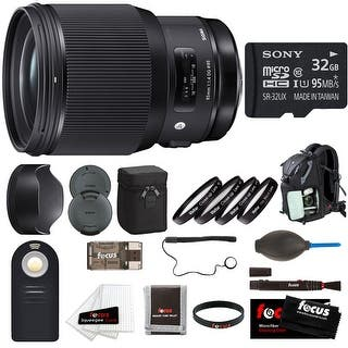 Sigma 85mm f/1.4 DG HSM Art Lens for Canon EF w/ Focus Accessory Bundle - Black https://ak1.ostkcdn.com/images/products/is/images/direct/a809eebb998725946c68799d339b81aece2fa56f/Sigma-85mm-f-1.4-DG-HSM-Art-Lens-for-Canon-EF-w--Focus-Accessory-Bundle.jpg?impolicy=medium