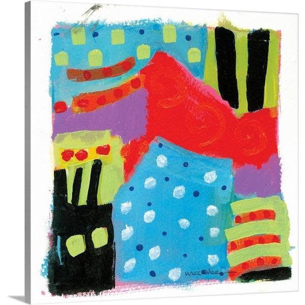 """Blue Polka Dot House"" Canvas Wall Art"