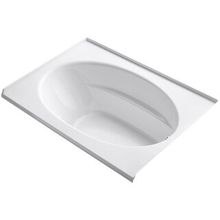 """Kohler K-1113-R Windward Collection 60"""" Drop In Three Wall Alcove Soaking Bath Tub with Right Hand Drain"""