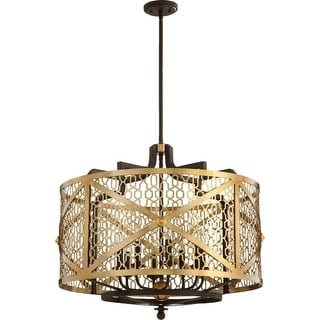 "Quorum International 640-8 Renzo 8 Light 28"" Wide Single Tier Chandelier"