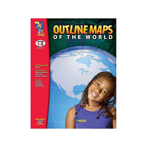 (2 Ea) Outline Maps Of The World