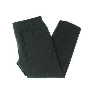 Lauren Ralph Lauren Mens Dress Pants Checkered Straight Leg