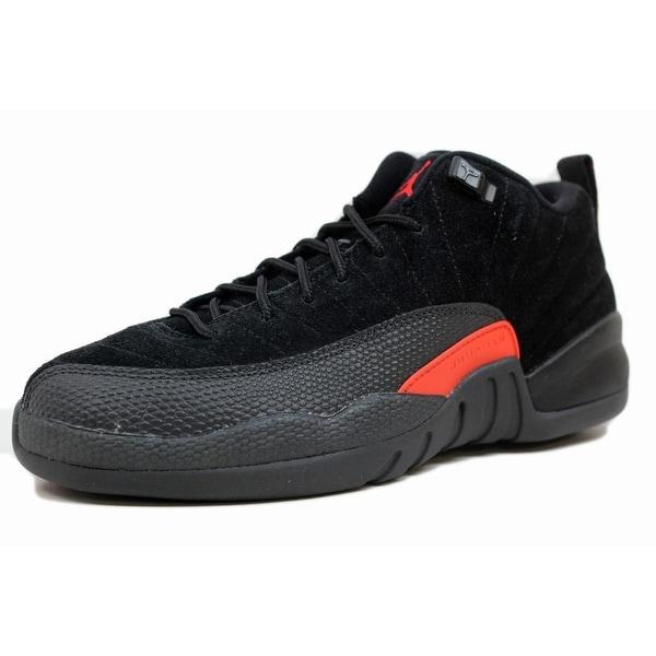 3c03a02071c463 Nike Grade School Air Jordan XII 12 Retro Low Black Max Orange-Anthracite  Max