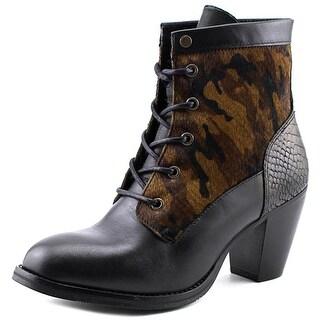 Bronx Mar Laina Women Round Toe Leather Bootie