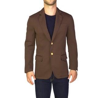 Prada Men's Cotton Two-Button Sportscoat Jacket Brown - 38