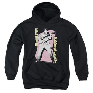 Elvis Presley Pink Rock Big Boys Pullover Hoodie
