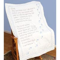 "Footprints - Stamped White Lap Quilt Top 40""X60"""