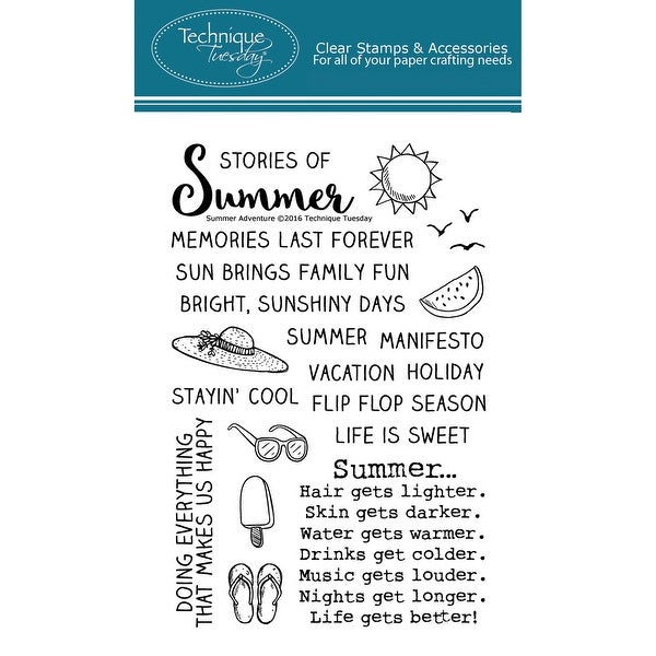 """Technique Tuesday Clear Stamps 4""""X6""""-Summer Adventure"""