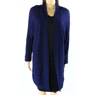 Lauren Ralph Lauren NEW Blue Womens Size Large L Cardigan Sweater