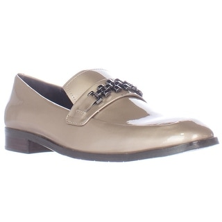 Donald J Pliner Leezasp Chain Strap Loafers - Almond