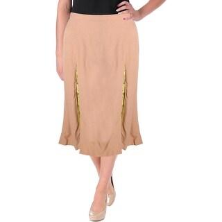 Wes Gordon Womens A-Line Skirt Crepe Lace-Trim - 14