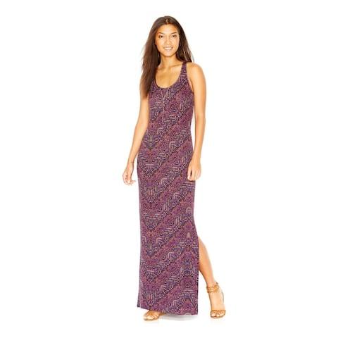 SANCTUARY Womens Purple Sleeveless Maxi Shift Dress Size M