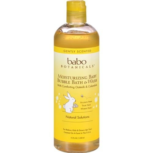 Babo Botanicals - Moisturizing Oatmilk Baby Bubble Bath And Wash ( 1 - 15 OZ)
