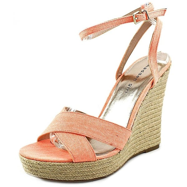 Madden Girl Womens VIICKI Canvas Open Toe Casual Platform Sandals