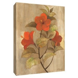 """PTM Images 9-154698  PTM Canvas Collection 10"""" x 8"""" - """"Hibiscus Stem I"""" Giclee Hibiscus Art Print on Canvas"""