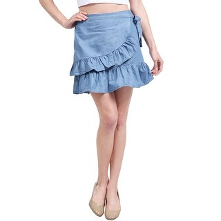 NE PEOPLE Womens Casual Swing Ruffle Frill High Waist Mini Skirts