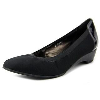 Rose Petals by Walking Cradles Brandi Women Open Toe Synthetic Black Wedge Heel