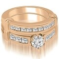 1.65 cttw. 14K Rose Gold Vintage Round Cut Diamond Bridal Set - Thumbnail 0