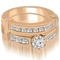2.15 cttw. 14K Rose Gold Vintage Round Cut Diamond Bridal Set - Thumbnail 0