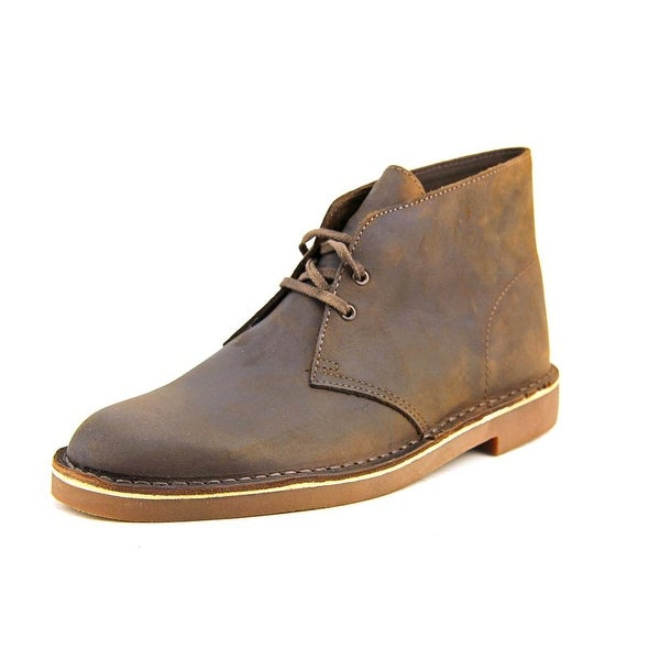 Clarks Bushacre 2 Men Round Toe Leather Brown Chukka Boot