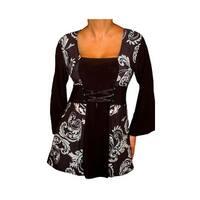 Funfash Plus Size Corset Style Black Aqua Blue Womens Plus Size Top Shirt Blouse