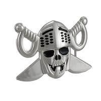 Lewd Knight Skull & Crossed Swords Belt Buckle
