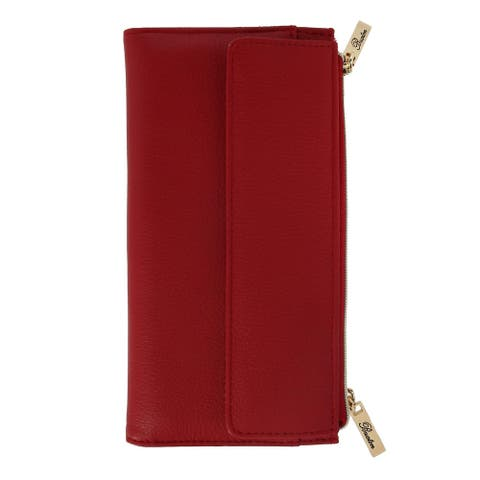 Buxton Women's Leather Long Bifold Wallet with Snap Closure - one size