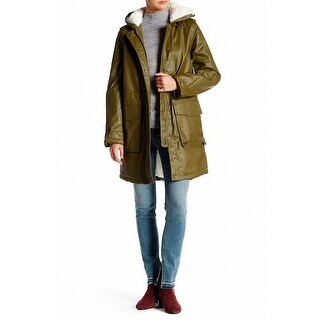 French Connection NEW Green Women's Size 8 Waxed Cotton Parka Anorak