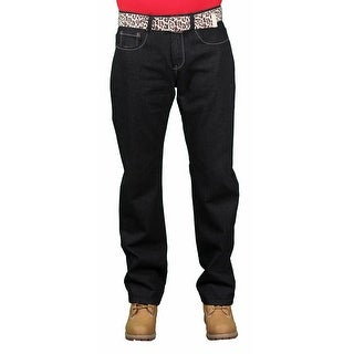 Brooklyn Xpress Men's Belted Fashion Jeans