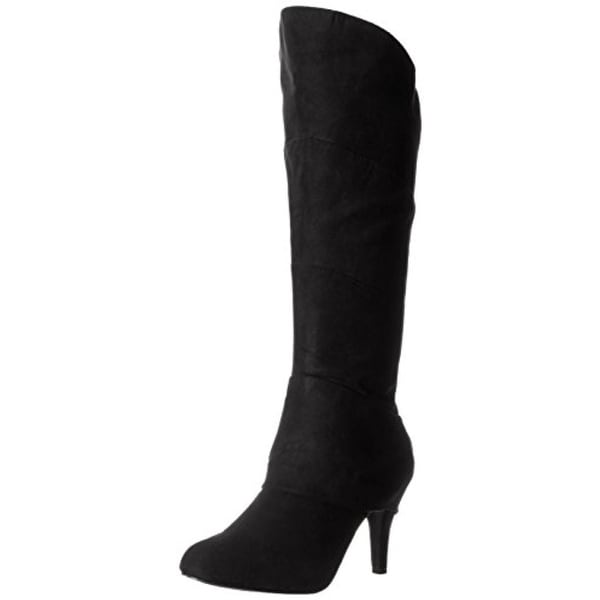 Diba Girl Womens Turn N Time Mid-Calf Boots Faux Suede Covered Heel