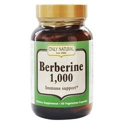 Only Natural Berberine 1000mg 50 Vcap