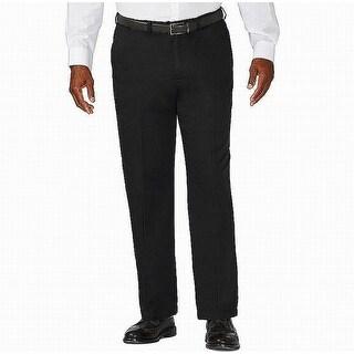 Link to Haggar Mens Pants Black Size 46X29 Big & Tall Classic Fit Flat Khakis Similar Items in Big & Tall