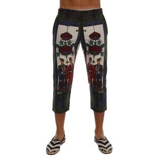 Dolce & Gabbana Chinoiserie Print 3/4 Linen Shorts - it46-s
