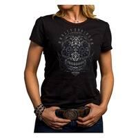 Harley-Davidson Women's Jagged Skull Short Sleeve Crew Shirt, Black 5J27-HE9C