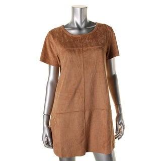 Minkpink Womens Faux Suede Mini Casual Dress