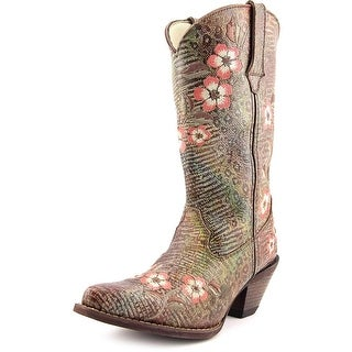 Durango Crush 12'' Floral Women Pointed Toe Leather Western Boot