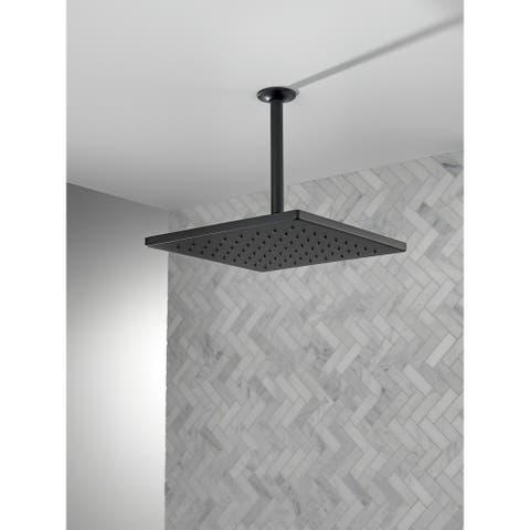 Delta Universal Showering Components Single-Setting Metal Raincan Shower Head (52159-BL)