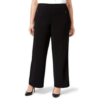 JM Collection Plus Size Wide Leg Pull-On Trousers Pants - 16W