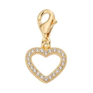Julieta Jewelry CZ Heart Gold Sterling Silver Charm